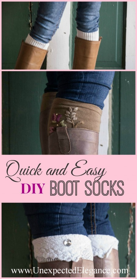 Quick and Easy Boot Socks Great For Gift Giving