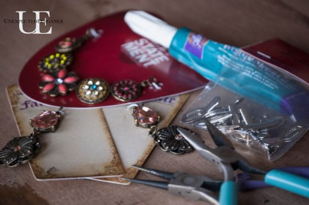 Supplies for Making a Cardigan Chain-1