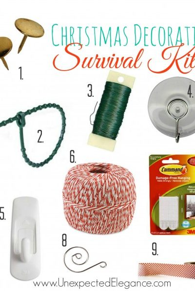 Christmas Decorating Survival Kit