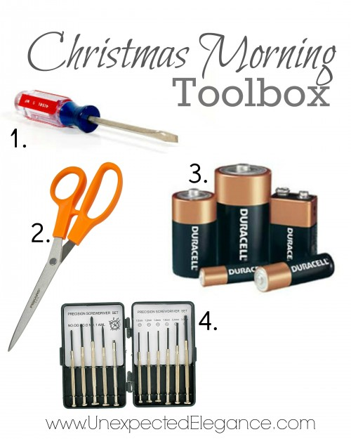 Christmas morning toolbox