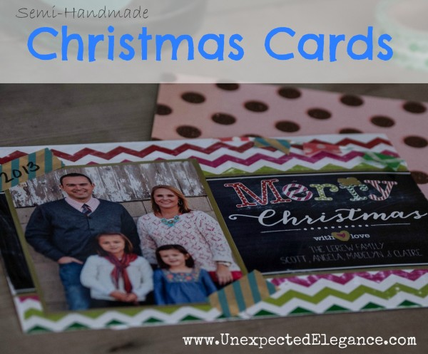 Embellishing Walgreens Printed Christmas Cards #shop #WalgreensApp
