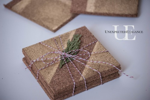 Handmade Gift- Coasters using Frog Tape-1-10