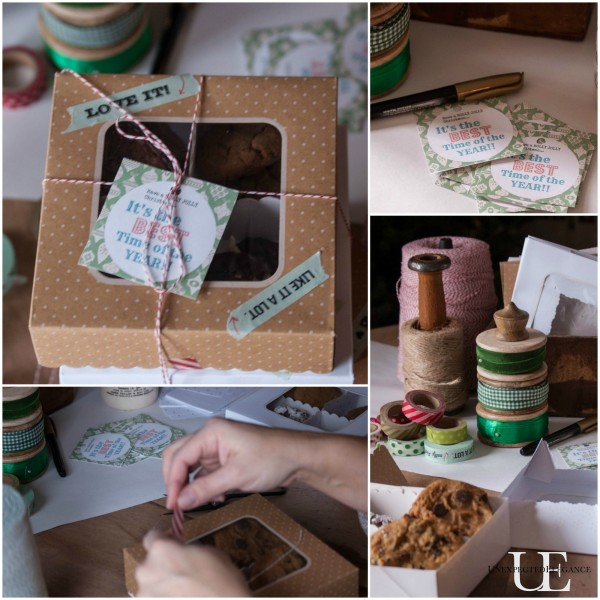 Wrapping Station for Cookie Exchange party with Free printables #ButterHoliday #shop #cbias