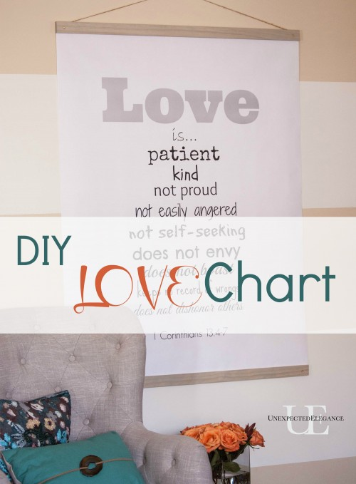 DIY LOVE Chart with Free Printable and Instructions