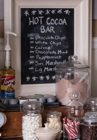 Creating a Cozy Home:  Hot Cocoa Bar