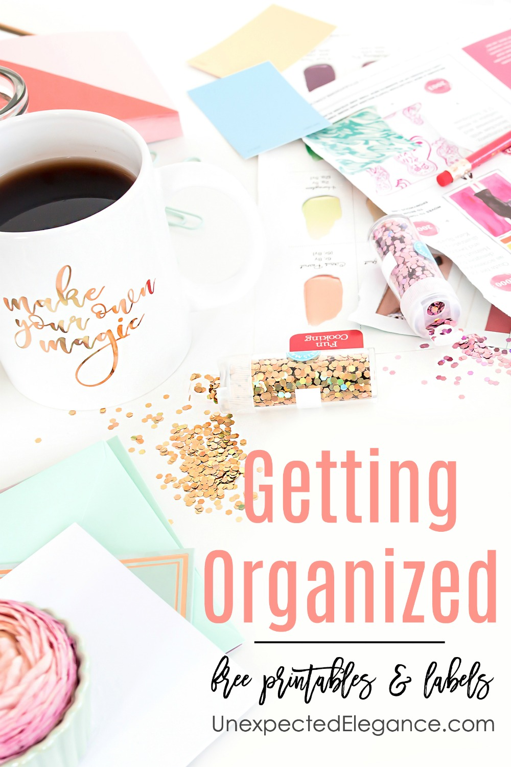 Are you struggling with organization? We are getting organized with free printables and labels to make our lives so much easier!!! Click here for all the resources.