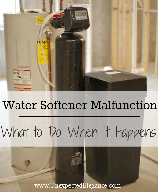Water Softener Malfunction-What To Do When it Happen