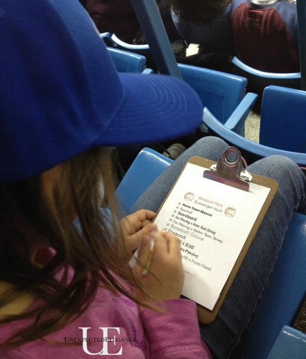 Activites for Kids at Baseball Games