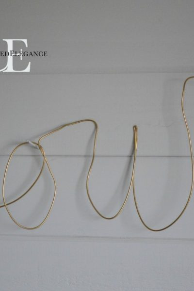 Anthro Knock-Off:  Wire Script Sculpture