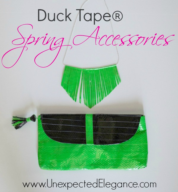 Duck Tape Spring Accessories and Upcycling