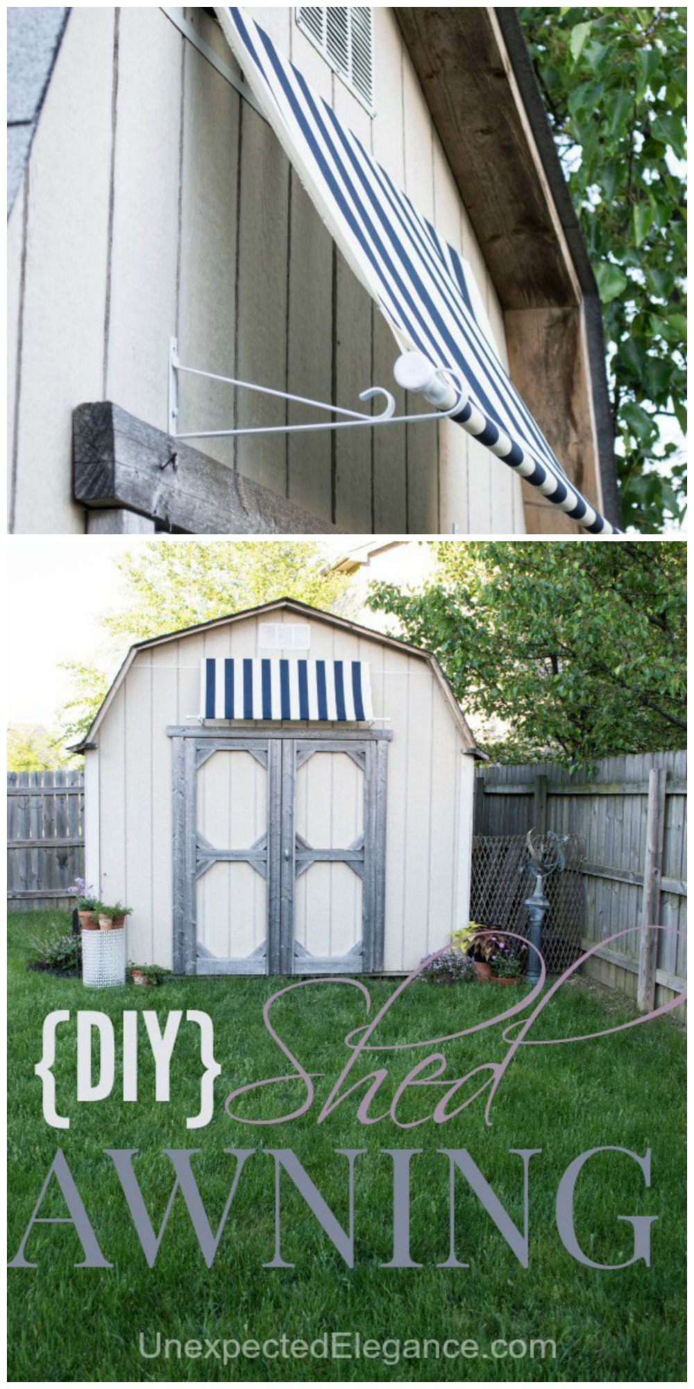 DIY Shed Awning {Quick and EASY} | Unexpected Elegance