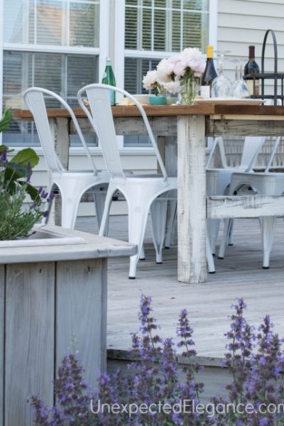 DIY Outdoor Farm Table