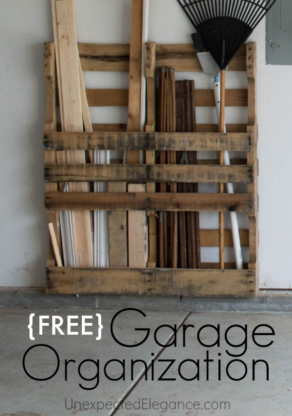 FREE DIY Garage Organiztion Free Garage Storage