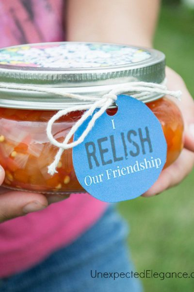 I RELISH Your Friendship | Red Pepper Relish