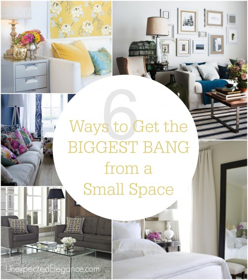 It is very seldom that a home or an apartment has exactly what you want as far as space and the layout of the rooms are concerned. Check out these 6 ways to get the biggest BANG from a small space!!