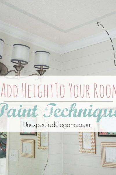 Add Height To Your Room with PAINT