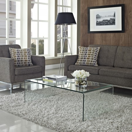Transparent furniture is a great way to make a space look bigger.