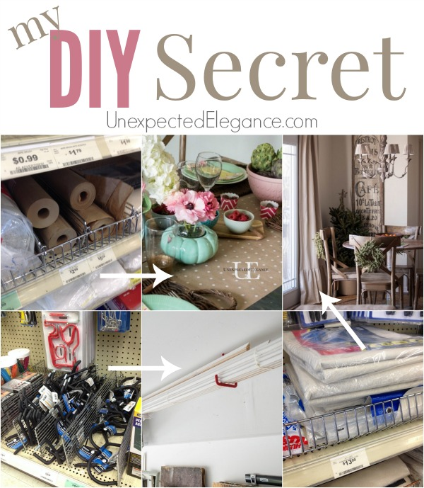 If you LOVE to DIY, then chances are you like to save $$??  I'm sharing one of my best kept  DIY Secrets!! See how I save money on craft and DIY supplies!