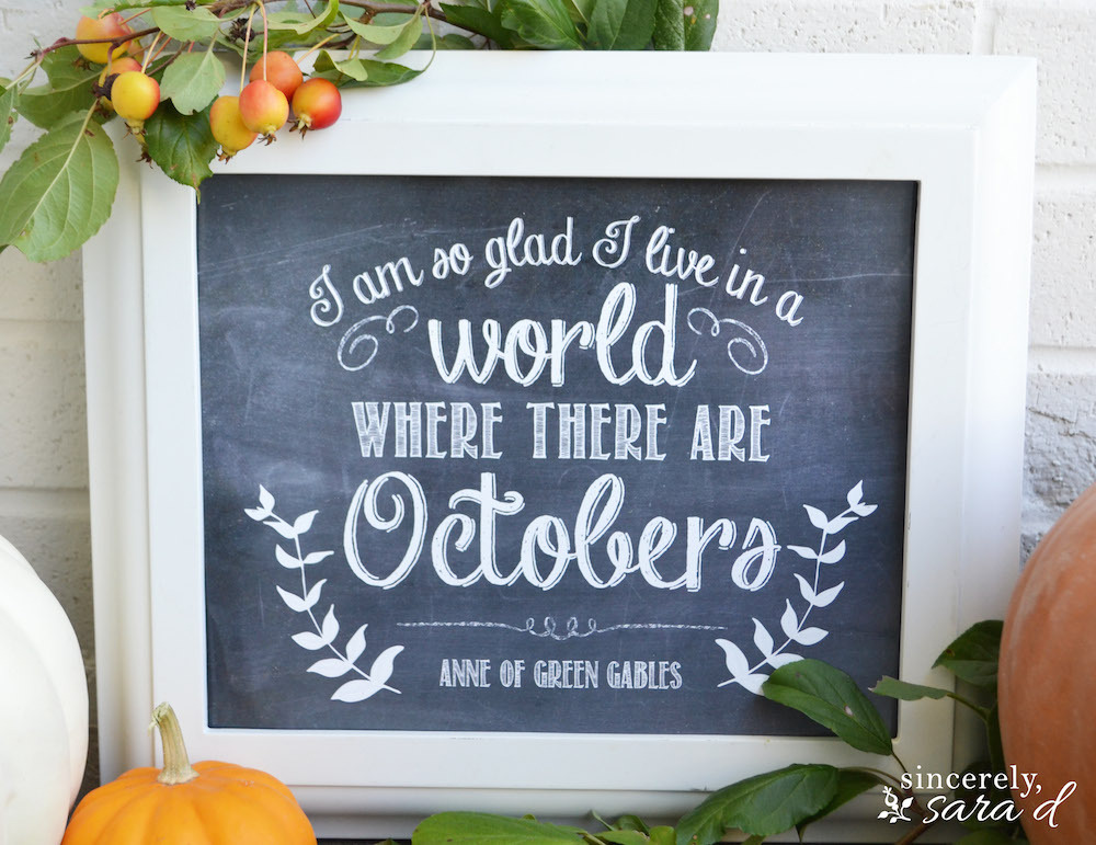 Free fall printable unexpected elegance for Anne of green gables crafts