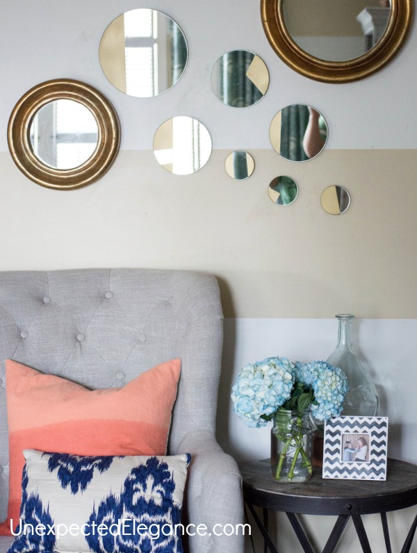 West Elm Inspired Gold Mirror-1-12
