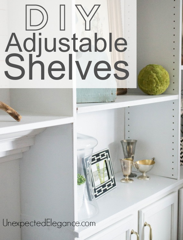 Create simple DIY adjustable shelves with an inexpensive tool!!