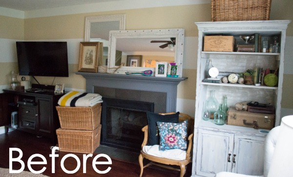 see how to transform you your living room with diy fireplace built ins it - Built In Bookshelves Around Tv