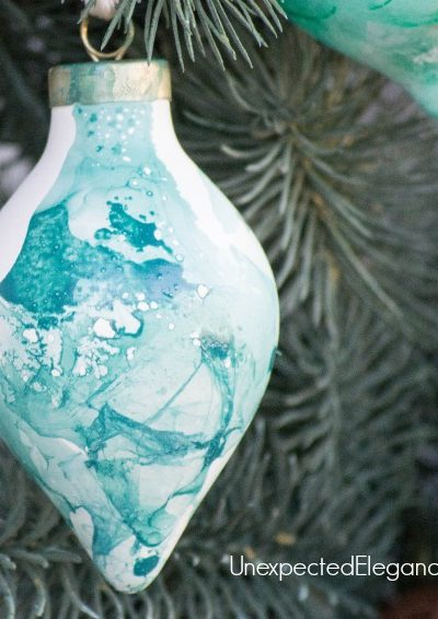 QUICK Handmade Watercolor Ornament | Using Nail Polish