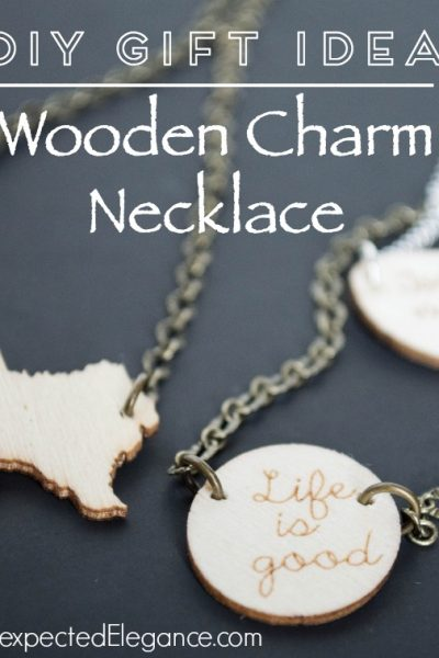 GIFT IDEAS | DIY Wooden Charm Necklace