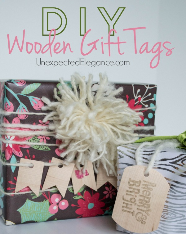 Need some inspiration for your gift wrapping this holiday season??  Find out how you can make these simple wooden gift tags in just a few minutes!