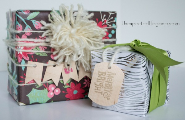 DINeed some inspiration for your gift wrapping this holiday season??  Find out how you can make these simple wooden gift tags in just a few minutes!