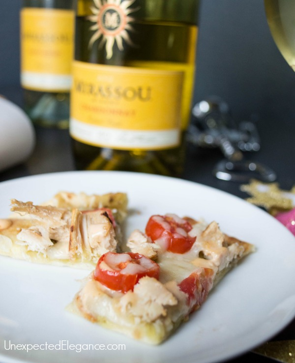 Get a fast and easy recipe for Chipotle Ranch Chicken Flatbread.  Pair this appetizer with a Mirassou Chardonnay for easy entertaining!