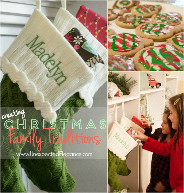 What family traditions will you create with your family??  Make it memorable and throw in giving back to others!