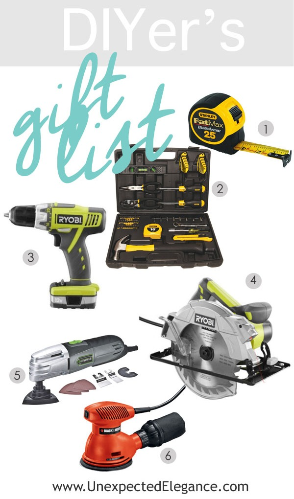 Do you have a DIY lover you are buying gifts for this year? Find a great Beginning DIYer's Gift Guide! Perfect for the person who is just starting out!