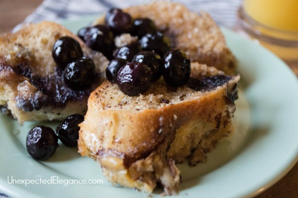 Need a special breakfast dish?? This overnight blueberry French toast is delicious and always a family favorite!