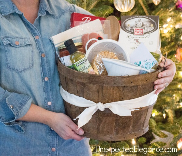 Do you need a gift for a culinary genius who loves to cook?  Give them a cooking themed gift basket this year, complete with cooking classes!!