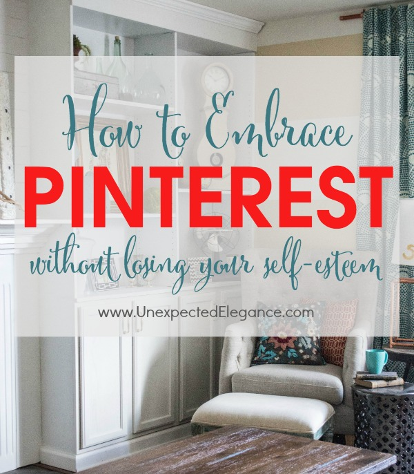 Let's face it, we are living in a Pinterest world.  All the pretty pictures and out of this world projects can cause us to get down on ourselves and have us feeling inadequate.  Find out why Pinterest can be a good thing and how to embrace it.