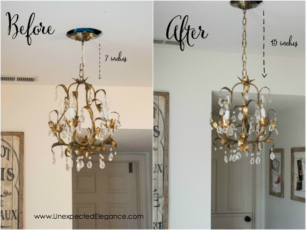 Have you ever bought a light fixture at a thrift store, yard sale or Craigslist that you absolutely loved but the wiring was entirely TOO SHORT?!?!  See just how easy it is to rewire a lighting fixture and save some money!