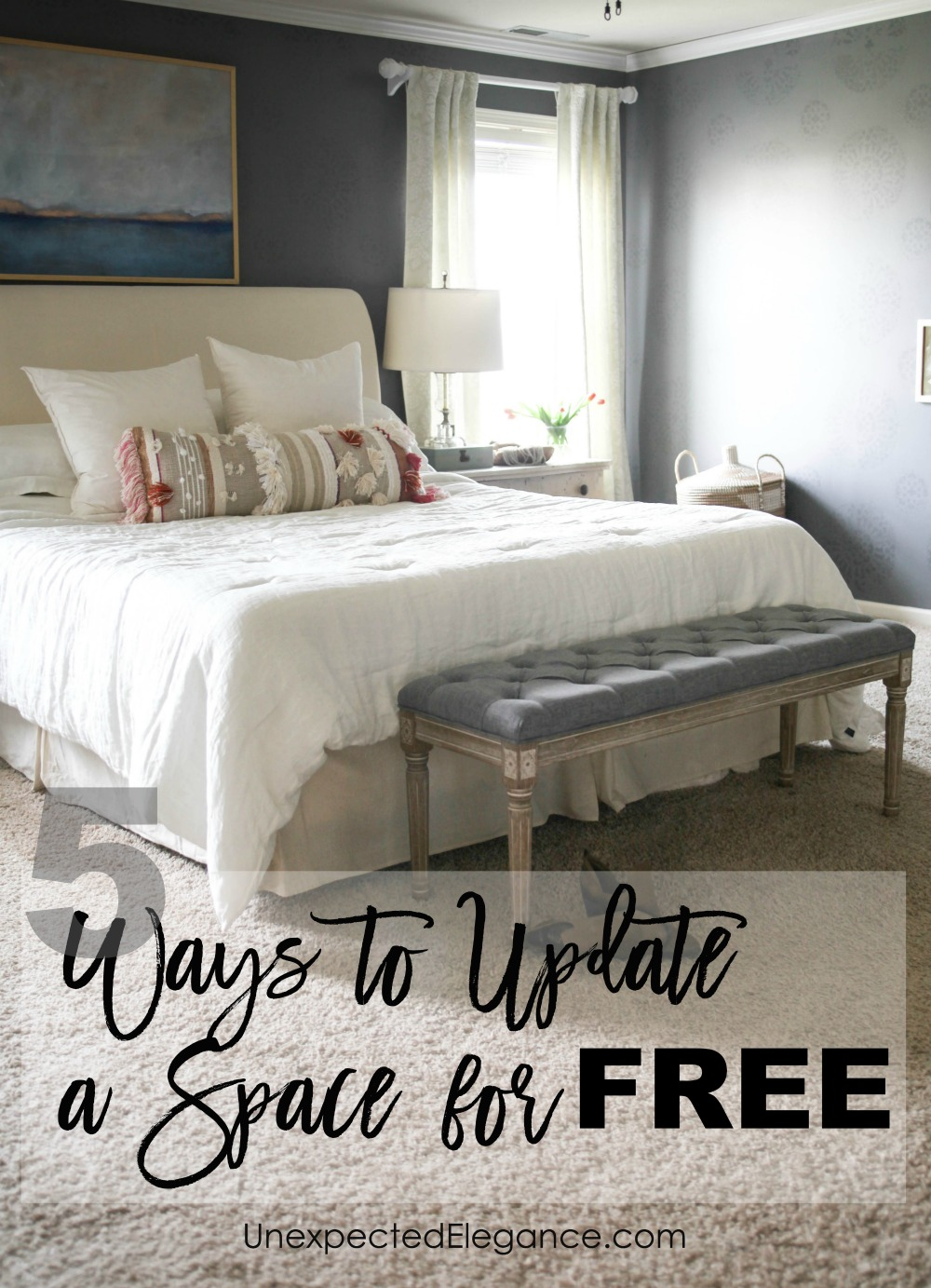 Do you have a room in your home that needs an update? Check out these TOP 5 WAYS TO UPDATE A SPACE FOR FREE! You might be amazed at some of the changes you can make without spending a dime!