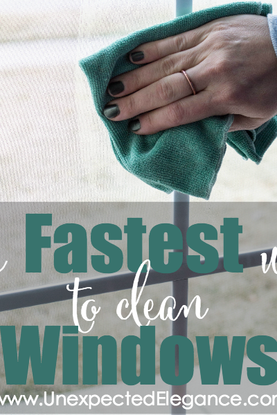 Spring Cleaning and Repair:  The FASTEST Way to Clean Windows
