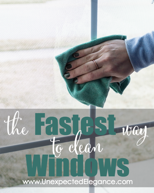 If washing windows is on your to-do list, then you need to know a little secret. Find out the FASTEST way to clean windows!!