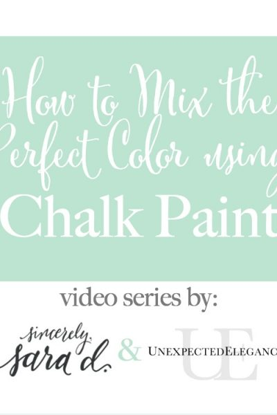 How to Mix Chalk Paint for the PERFECT Color   Episode 2