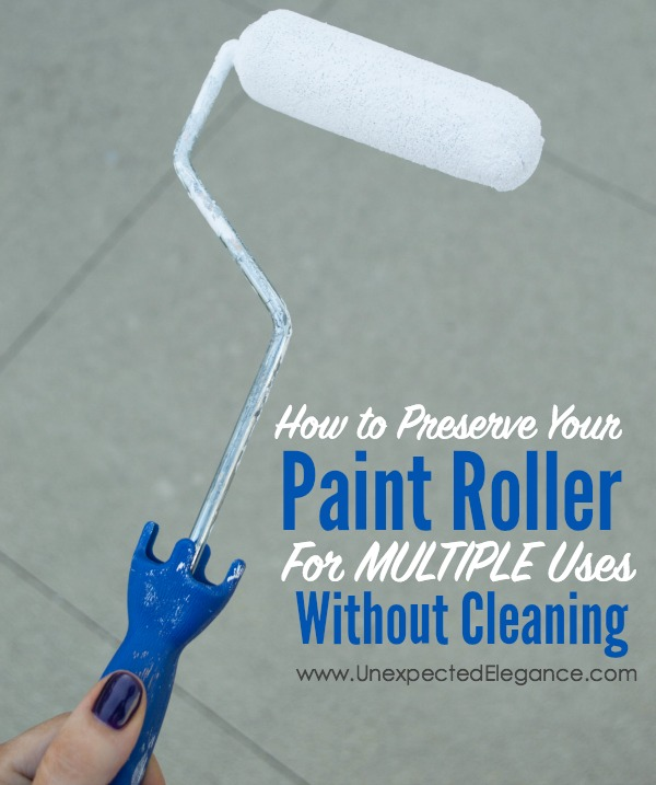 Have you ever started a large painting project and didn't finish in one day? Do you enjoy cleaning the roller in-between sessions (I sure don't)? Well, I have a little secret, check it out!!