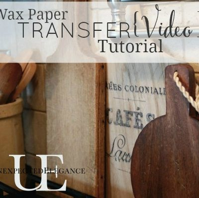 Wax Paper Image Transfer Tutorial {Video} & How to FLIP an Image