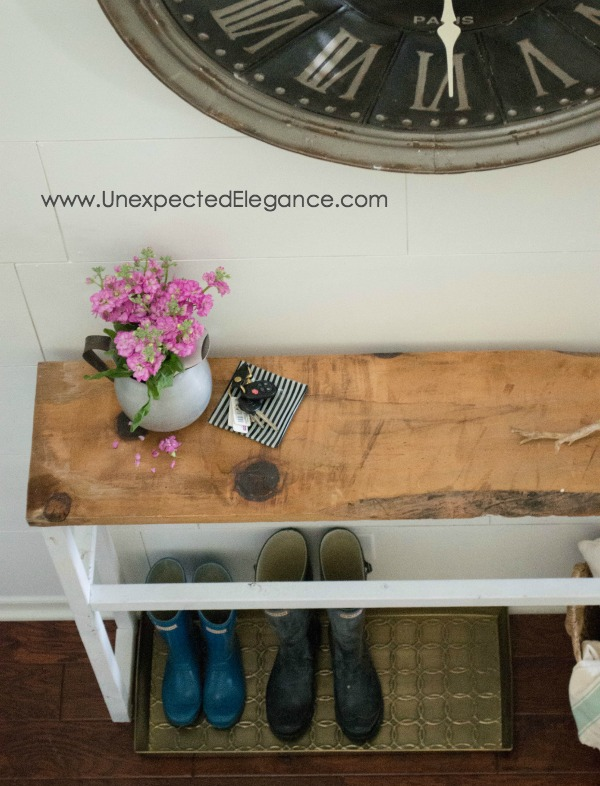 New Diy Entry Table For Under 15 Unexpected Elegance