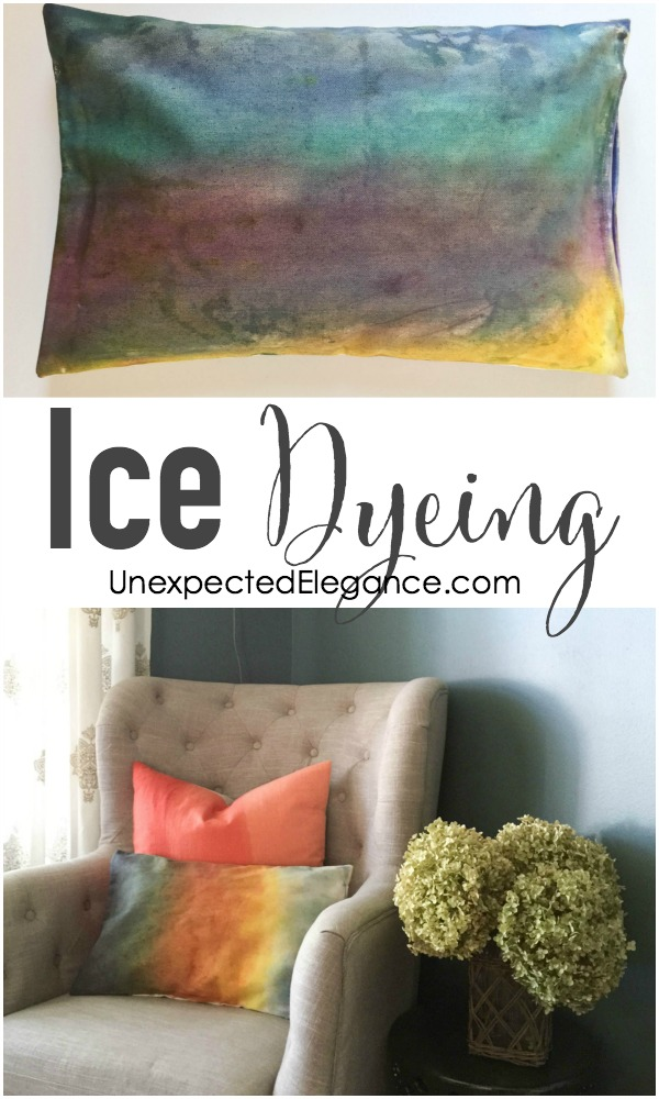 Check out this cool technique of ice dyeing!!  Use the ice to manipulate the dye and give you a more watercolored effect...the results are beautiful.