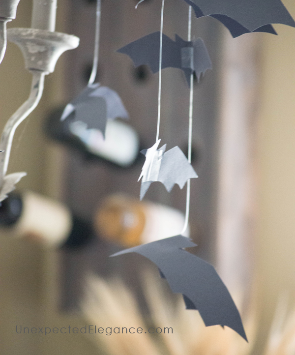 "Looking for some easy Halloween decorations that are quick to put together? Check out this simple and inexpensive ""bat mobile"". It will give any room a creep-factor!"