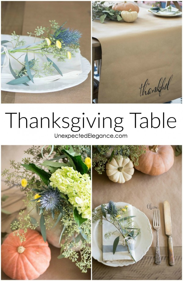 Get some great tips for an EASY Thanksgiving table and save some time to enjoy your guests! These simple and thoughtful decor ideas will make your meal extra special.