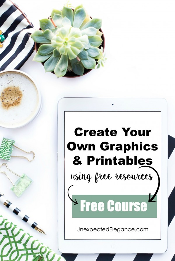 Are there times that you need a specific graphic for a project or a one-of-a-kind piece of artwork? Well, now you can make your own. Join this FREE 5-day email course to see how to use FREE resources to create one-of-a kind graphics.