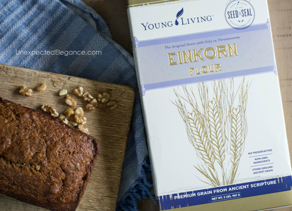 Get this delicious and EASY recipe for Banana bread with Einkorn flour. It tastes amazing and is a wonderful flour substitute!