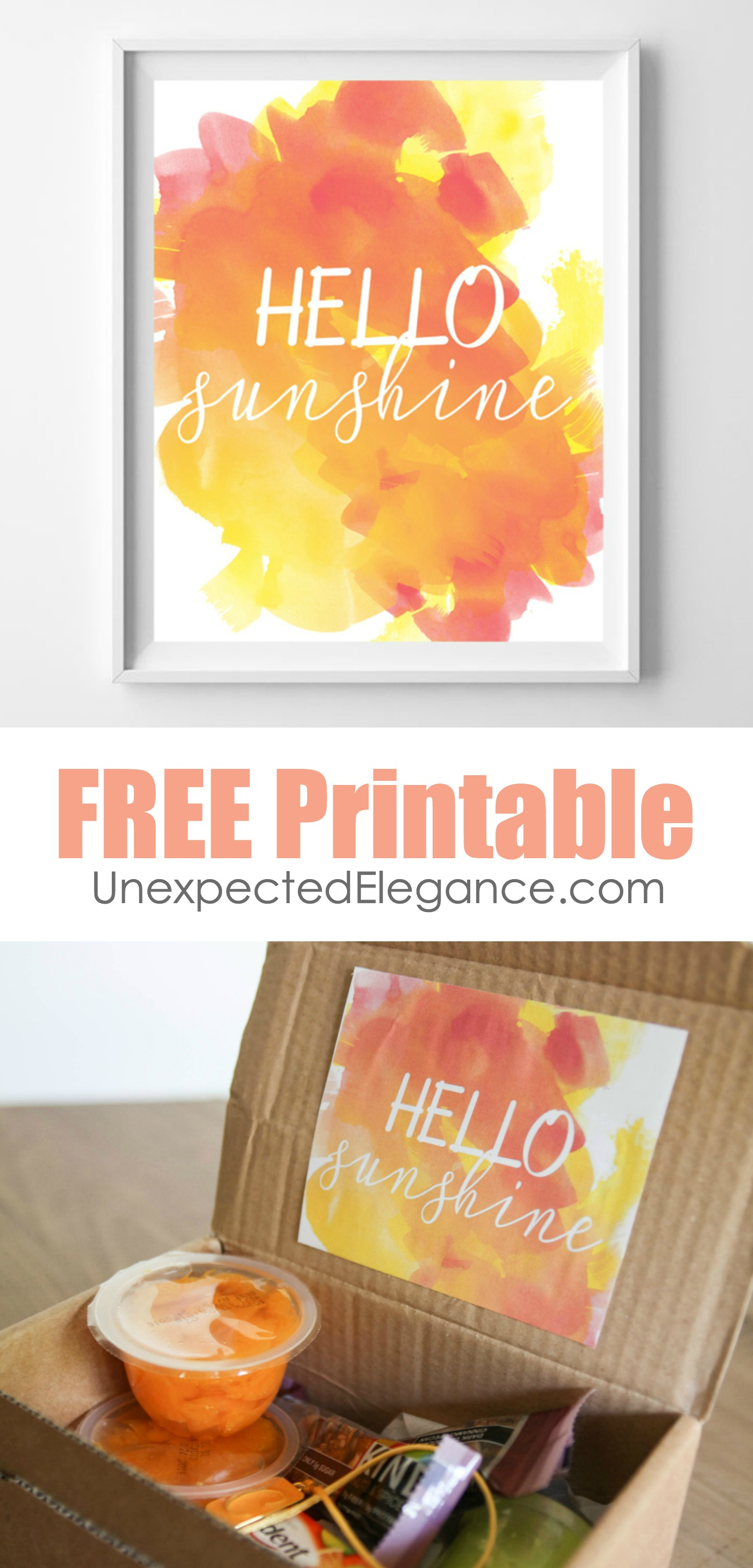 Let's kick off summer with this fun sunshine printable! It is an easy way to add some sunshine to your walls or give to someone you love a little sunshine-in-a-box.